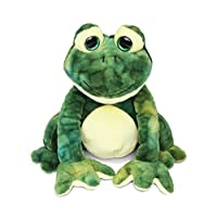 Puzzled Cute Stylish Squat Frog Super Soft Polyester Plush Figures Well Stitched Cushy Doll Huggable Decorative Cuddly Stuffed Animal Toys Decor Easy Cleaning Washable Ideal Gift 8 Inch