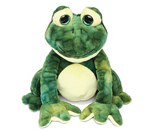 Puzzled Cute Stylish Squat Frog Super Soft Polyester Plush Figures Well Stitched Cushy Doll Huggable Decorative Cuddly Stuffed Animal Toys Decor Easy Cleaning Washable Ideal Gift 8 Inch ()