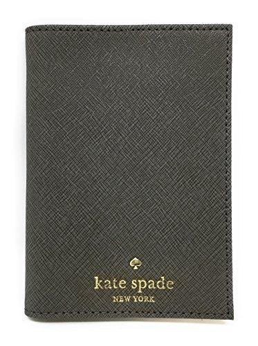 Kate Spade New York Mikas Pond Leather Passport Holder (Cliff Grey)