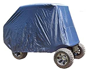 Universal 4-Passenger Golf Cart Storage Cover for EZGO/Club Car/Yamaha Rear Seat
