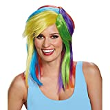 Disguise Women's Rainbow Dash Adult Costume Wig, Multi, One Size