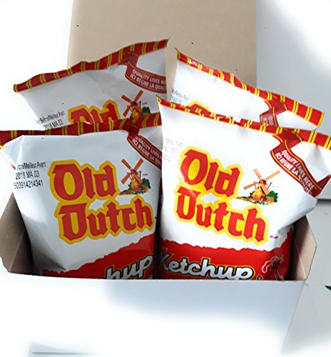 Old Dutch ketchup potato chips ~ 4 bags/40g from Canada Canadian eh treat boxes