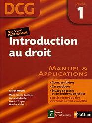 Introduction au droit Epreuve 1 - DCG - Manuel et applications