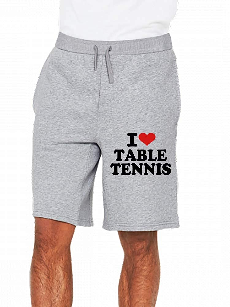 I Love Table Tennis Mens Casual Short Trouser