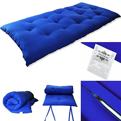 (Magshion RB27 Tatami Floor Mat Japanese Rolling Thai Massage Bed Futon Mattresses (Royal Blue))
