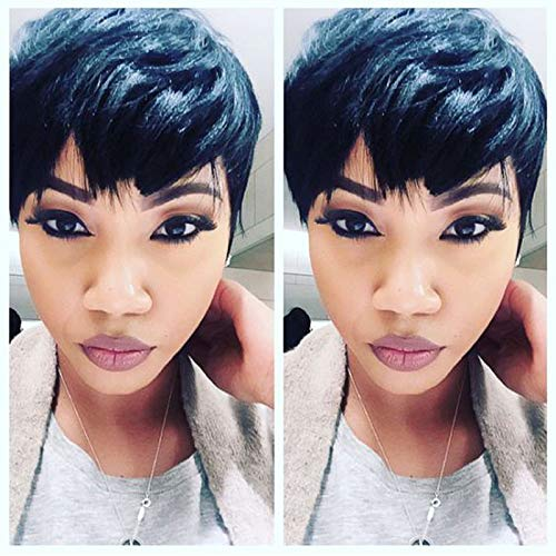 Cheap Hair Wig Hot Sale Short Pixie Cut Wigs Short Wigs For Black Women Cheap Synthetic Hair Wigs]()