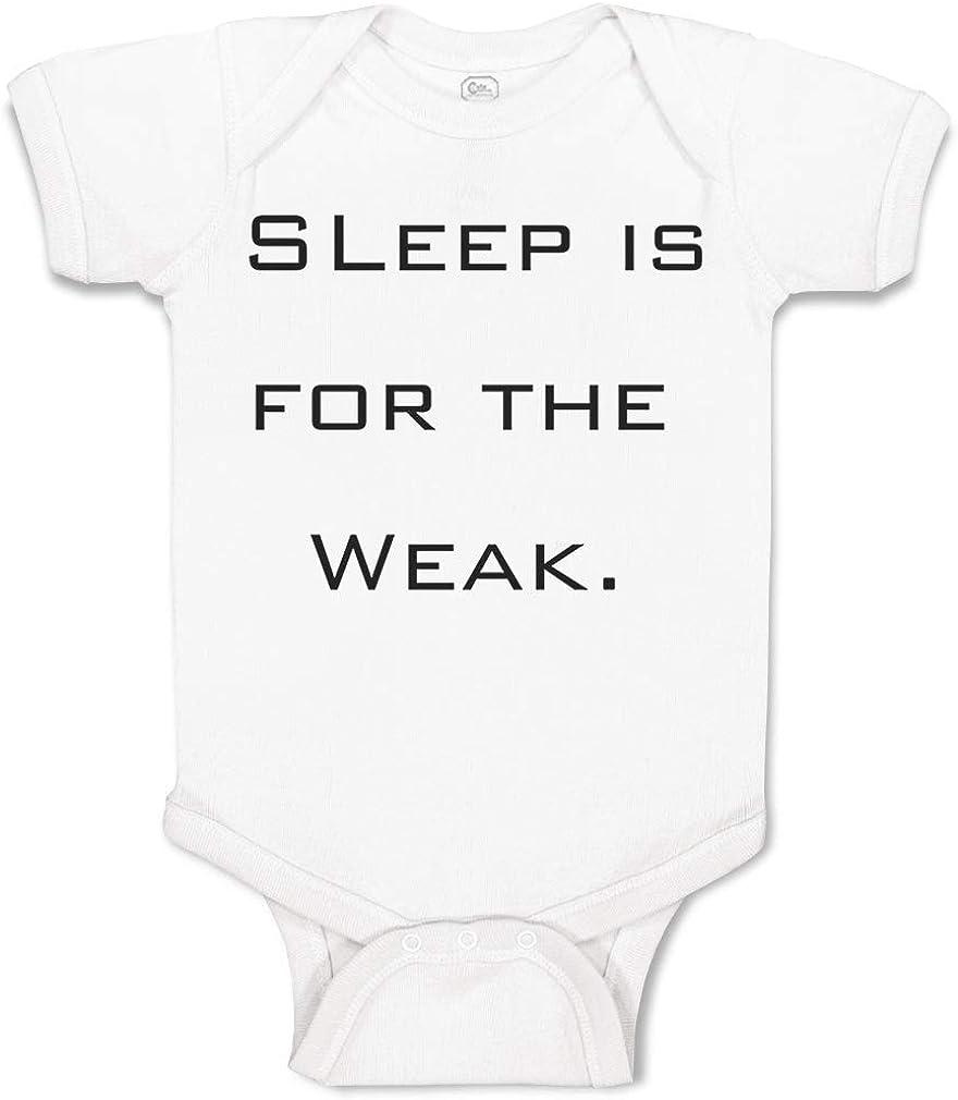 SLEEP IS FOR THE WEAK GIRLS//BOYS CLOTHING FUNNY NOVELTY BABY GROW//VEST