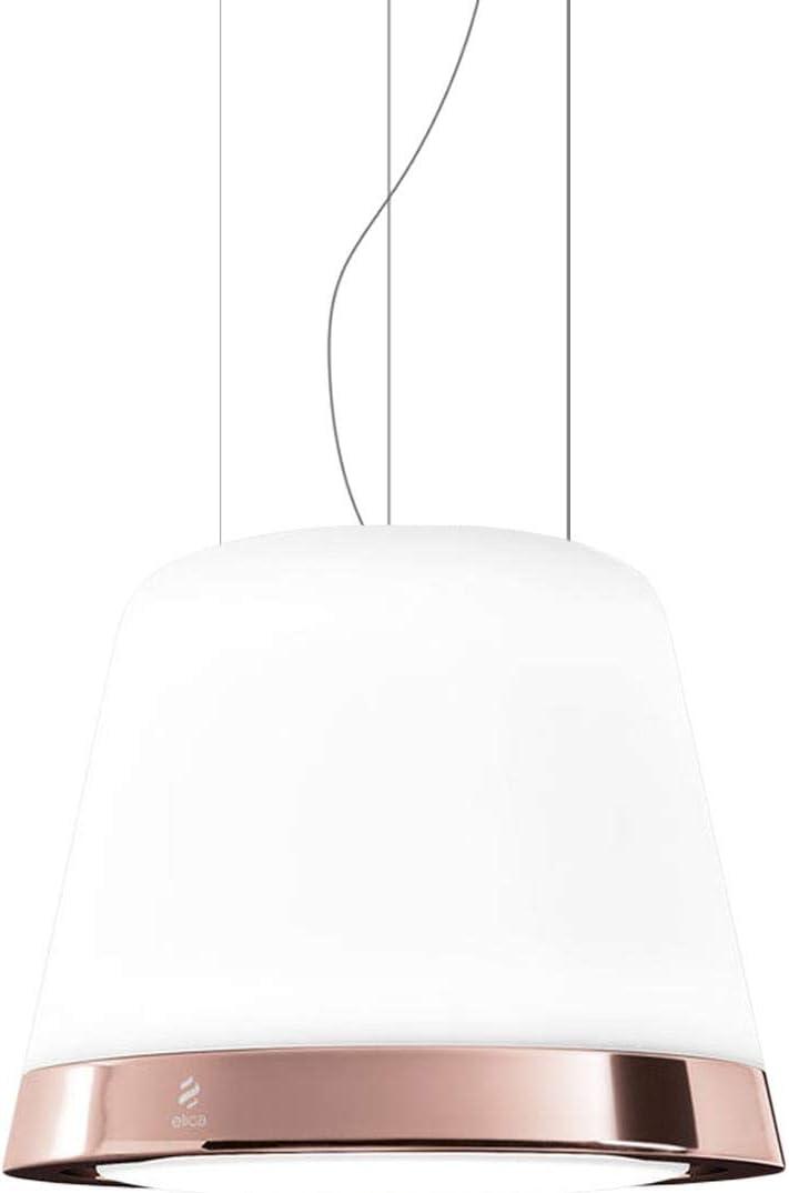 Elica PRF0120792 - Campana (400 m³/h, Recirculación, 53 dB, Decorativa, Cobre, Metálico, Cobre, Vidrio): Amazon.es: Hogar