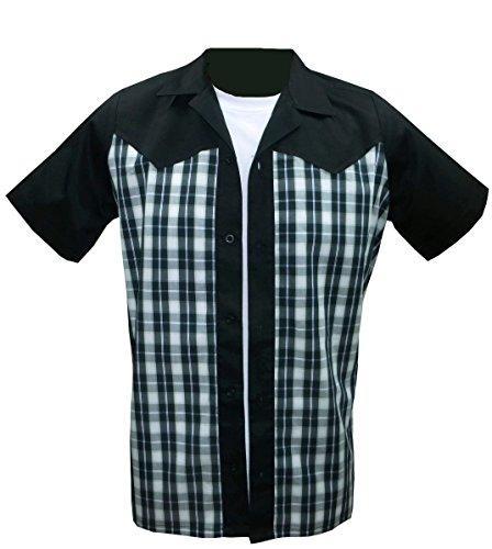 1950s/1960s Western Style,Rockabilly, Retro, Vintage Men's Shirt (Retro Western Shirts For Men)