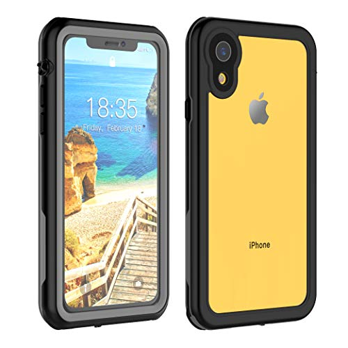 (iPhone XR Waterproof Case 6.1 inch, Full Body Protective with Built-in Screen Protector Clear Waterproof Case for iPhone Xr Case 6.1 Inch 2018.)