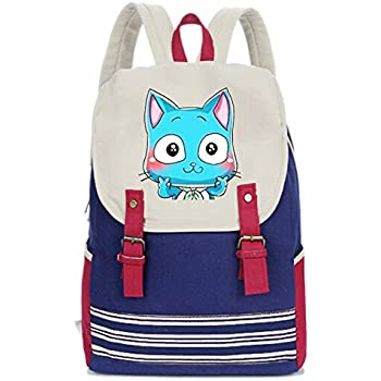 eb1ae073a32 Siawasey Fairy Tail Anime Natsu Dragneel Cosplay Canvas Backpack Shoulder School  Bag