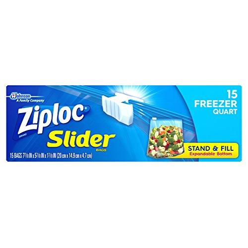ziploc slider quart freezer bags - 4