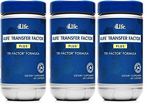 x 3 Transfer Factor Plus Tri-factor - (60 count) 3 Bottles (Factores De Transferencia)