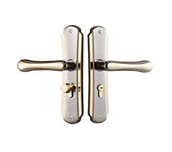 Etonnant E Support New Popular Interior Security Door Handle Pair Lock Lever Door  Handles Panel Hot