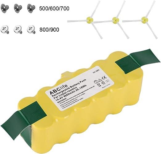 ABC life 14.4V 4500mAh Batería de Repuesto para Aspirador iRobot ...