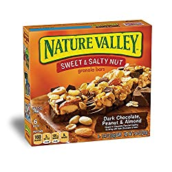 Nature Valley Granola Bars, Sweet & Salty Nut, Dark Chocolate Peanut & Almond, 6 Bars - 1.2 Oz