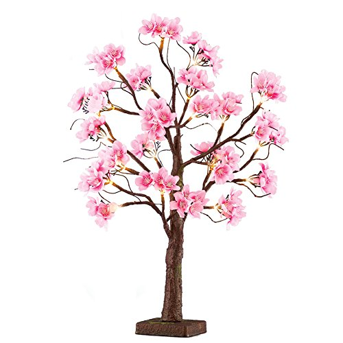 - Lighted Pink Cherry Blossom Tree Branches Indoor Tabletop Decoration