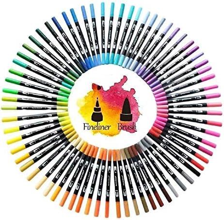 マーカー 120色の水彩ペン描画洗えるアートマーカーペンのために子供の描画絵画美術用品学校は、マーカーペン用品 万能防水マーカーペン (Color : Black, Size : 120 Colors)