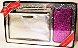 (US) Victoria's Secret Party Perfect Duo Set Wristlet and Hard Case iPhone 6 Silver/Hot Pink Glitter