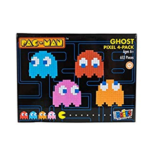 Strictly Briks Pac-Man & BANDAI NAMCO Entertainment Inc | Pac-Man 4-Pack Ghost Pixel Brick Building Set - 652 Pieces