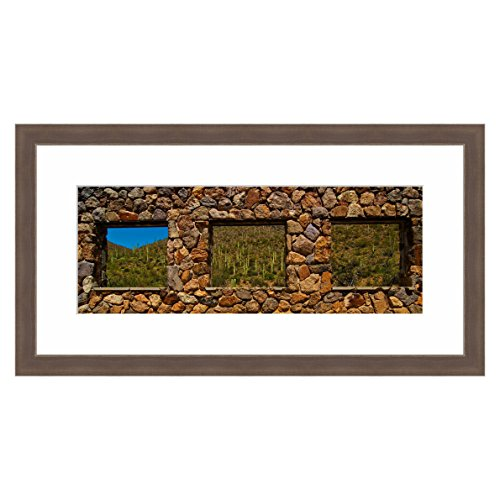 eFrame Fine Art | Stone Window Yetwin Trail Tuscon Mountain Park Arizona by Howard Paley 11'' x 30'' Framed and Unframed Wall Art for Wall Decor or Home Decor (Black, Brown, White Frame or No Frame) by eFrame