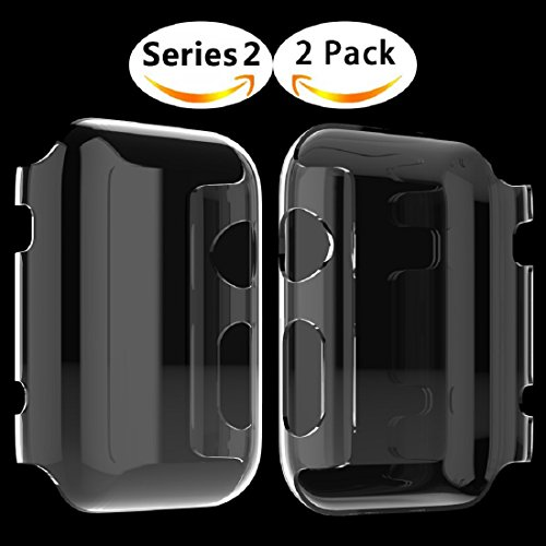 Apple Watch 2 Case, Langboom Apple Watch Screen Protector Ultra-Thin PC Hard Cover Full Coverage Clear Case for iwatch Series 2 38mm (2Pack)