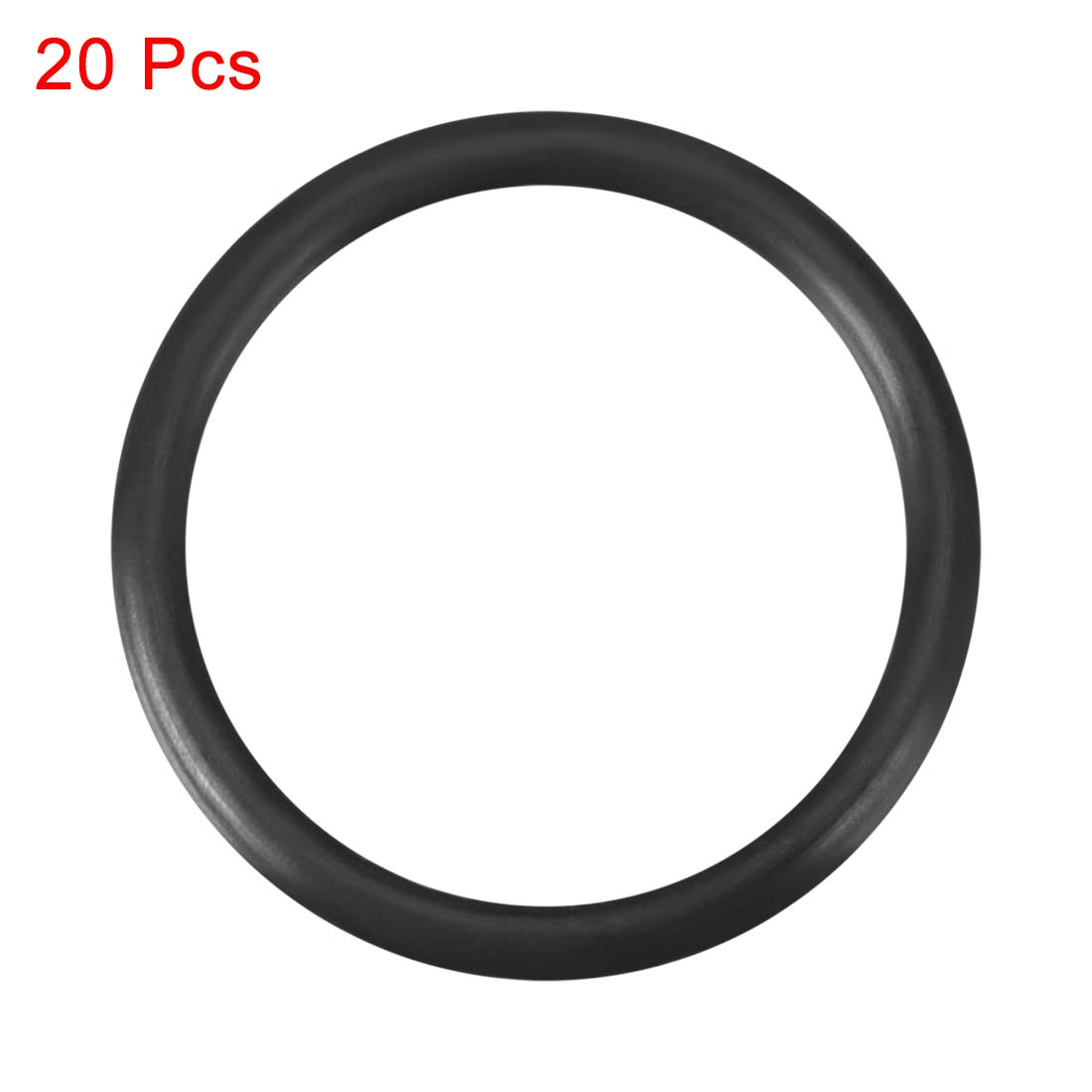 Round Seal Gasket 18.6mm OD Pack of 20 sourcing map O-Rings Nitrile Rubber 15mm Inner Diameter 1.8mm Width
