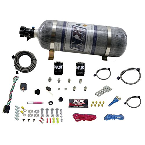 Nitrous Express 8 Cylinder (Nitrous Express 20920-12 35-150 HP EFI Single Nozzle System with 12 lbs. Composite Bottle for GM)