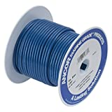 Ancor 108102 Marine Grade Electrical Primary Tinned Copper Boat Wiring (10-Gauge, Dark Blue, 25-Feet)