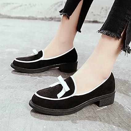 a98fe1efb8274 Amazon.com : GAOLIM Spring Shoes Women Flat Round Head Single Shoes ...