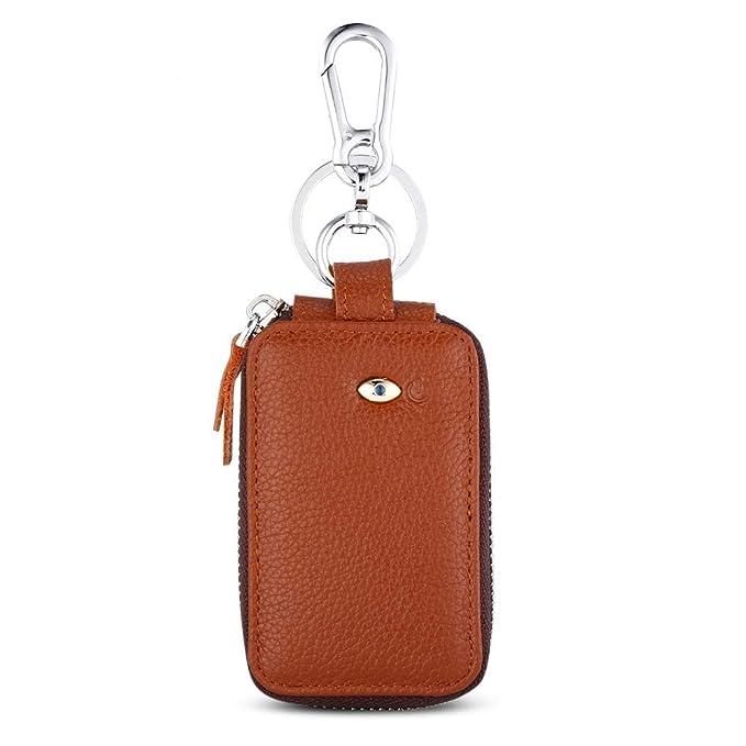 XXIAZHI,Inteligente caja de cuero Bluetooth con llavero a ...