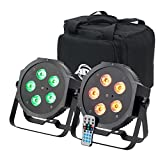 American DJ Mega 64 HEX Pak | 2 x par 64 profile with 5 x 10 watt HEX (RGBWA+UV) LEDs
