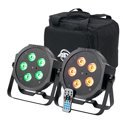American DJ Mega 64 HEX Pak | 2 x par 64 profile with 5 x 10 watt HEX (RGBWA+UV) LEDs by American DJ