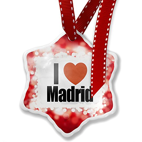 Christmas Ornament I Love Madrid region: Spain, Europe, red - Neonblond by NEONBLOND