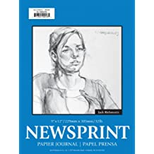 Jack Richeson 18-Inch-by-24-Inch Newsprint Paper Pad, 50-Sheet Rough
