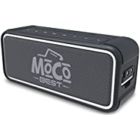 Portable Waterproof Bluetooth 25W Speaker & Power Bank - Wireless Indoor & Outdoor Speaker w/Backlighting, Microphone, USB Charger & 3.5mm Audio Cable - Compatible w/Micro SD, iPhone, Android & iPod