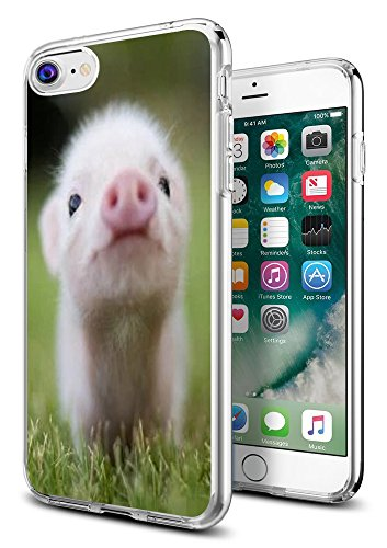 iPhone 8 Case Pig,iPhone 7 Case Pig,Gifun [Anti-Slide] and [Drop Protection] Clear Soft TPU Premium Flexible Protective Case for Apple iPhone 8/iPhone 7 - Little Lovely Pig