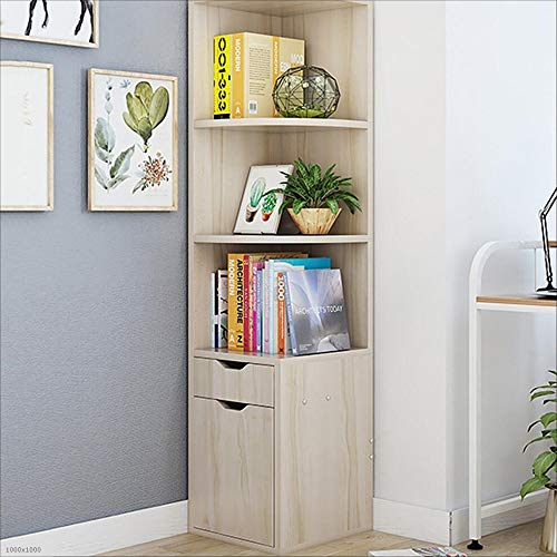 Room Cabinet Maple Living - Bookcase Bookshelf Locker Corner Cabinet Corner Cabinet Locker Living Room Corner Cabinet Triangle Cabinet Simple Floor Cabinet (Color : Maple Cherry Wood)