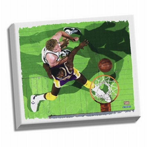 Larry Bird and Magic Johnson Stretched Canvas