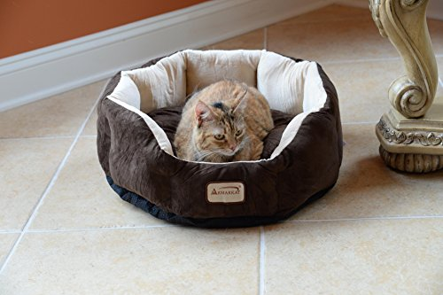 Armarkat C01HKF/MH Cozy Pet Bed 20-Inch Diameter, Mocha ()