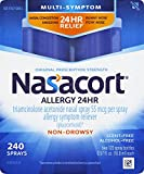 Nasacort Allergy 24 Hour Nasal Spray, 16.9 ml (2 Bottles), Provides Relief for Allergy Symptoms Including Nasal Congestion, Sneezing, Runny Nose, Itchy Nose, Alcohol and Scent Free Nasal Spray
