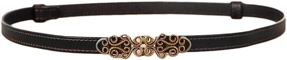 Oyccen Mujer Cinturón de Cuero Ajustable para Vestido Jeans Cinturones Fino con Hebilla de Aleación