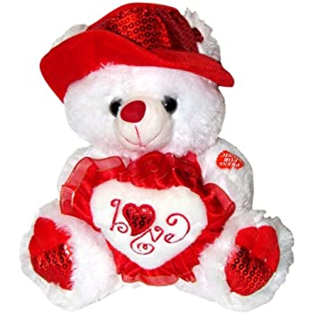 musical i love you teddy bear with red hat 11 plays
