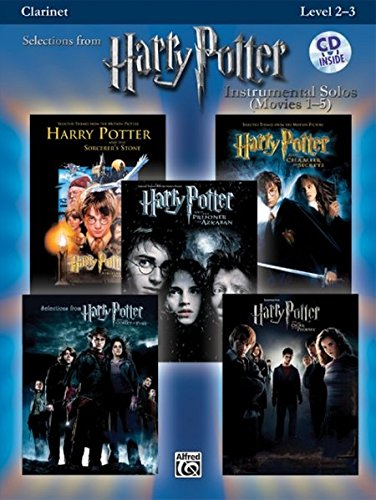 Harry Potter Instrumental Solos (Movies 1-5): Clarinet, Book & CD (Pop Instrumental Solos Series)