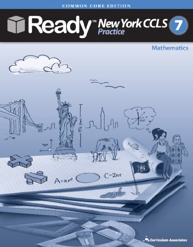 New York 2014 Grade 7 Common Core Practice Test Book for Math  CCLS Ready New York