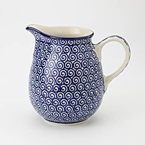 Polish Pottery Jug Pitcher – Doodle – 300ml