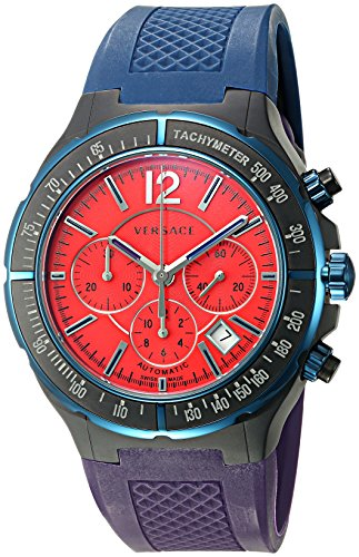 Versace Women's 26CCS9D800 S872 DV One Chrono Analog Display Automatic Self Wind Blue Watch