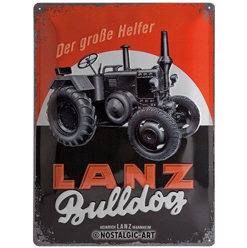 Amazon.com: Nostalgic-Art 23236 Lanz Bulldog - Placa ...