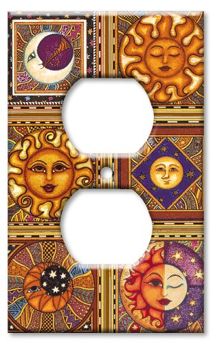 Art Plates - Celestials Switch Plate - Outlet Cover - Light Switch Outlet Cover Art
