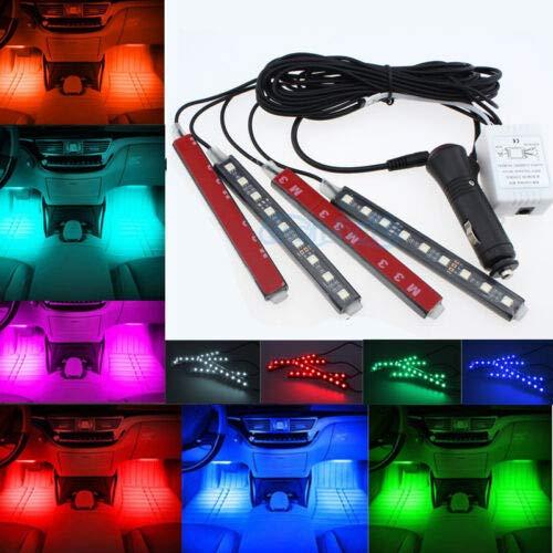 FidgetKute Glow Full Color LED Interior Kit FootWell Floor Seats Inside Light For Cadillac: